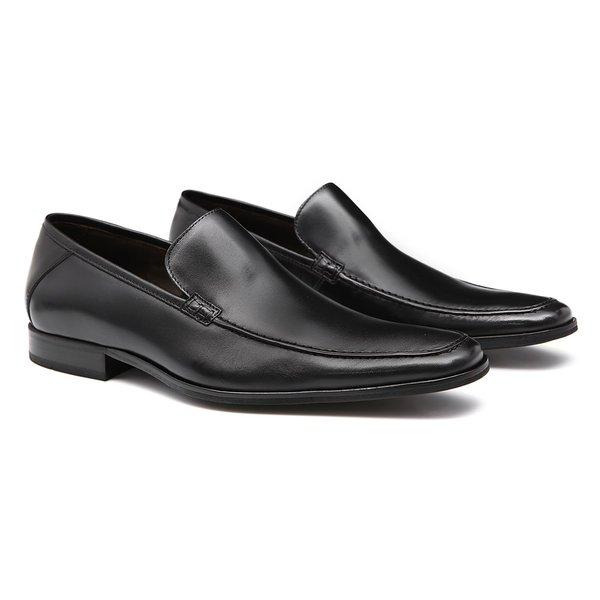 Sapato Masculino Social Mocassim Loafer Preto em Couro Legítimo