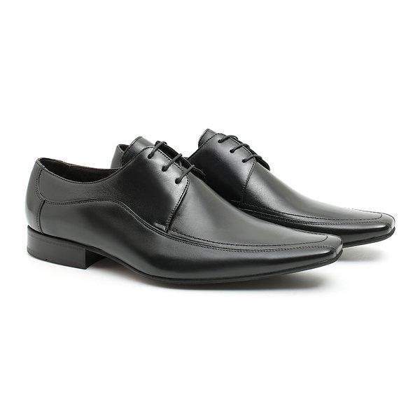 Sapato Social Clássico Preto Masculino em Couro Legítimo