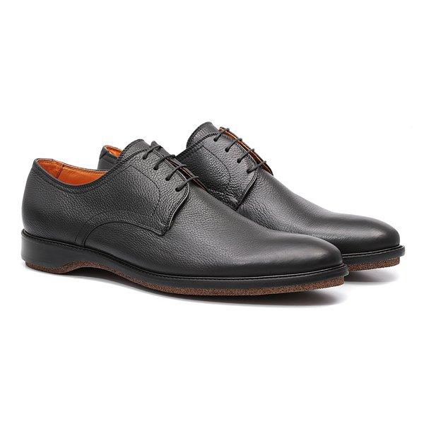 Sapato Masculino Esporte Fino Preto em Couro Legítimo