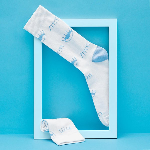 Meia SOCKS ON THE BEAT Occhi Blue