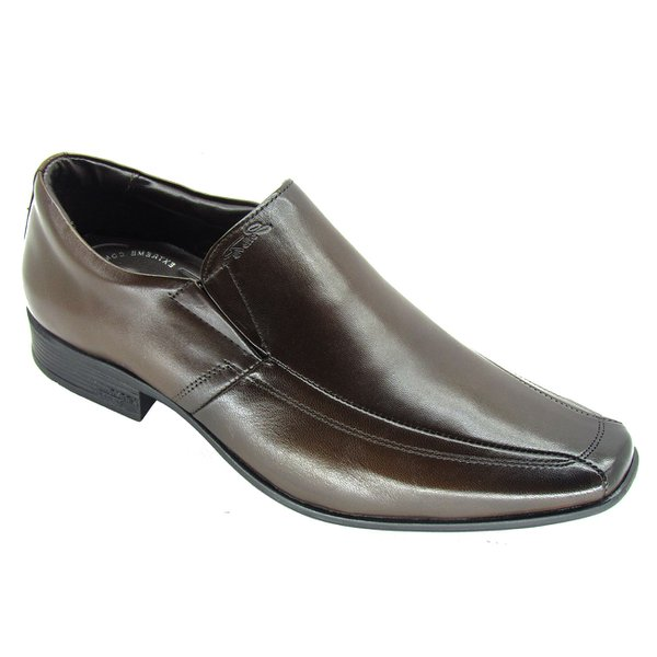 Sapato Social Masculino Air King Jota Pe 45007 - Dark Brown