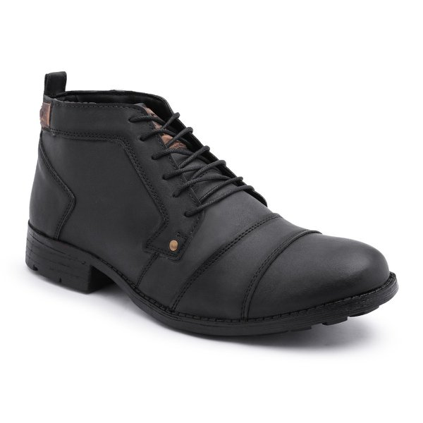 c12fcb914 Bota Coturno Casual Preto Masculino Couro Killser Shoes | EXCLUSIV OUTLET