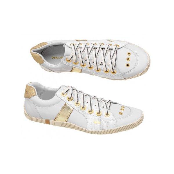 1fe5cf52b Tenis Sapatenis Osklen Feminino Branco Com Dourado | EXCLUSIV OUTLET
