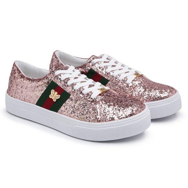 258c8b321 Tenis Feminino Casual Rosa Glitter Babu Shoes | EXCLUSIV OUTLET