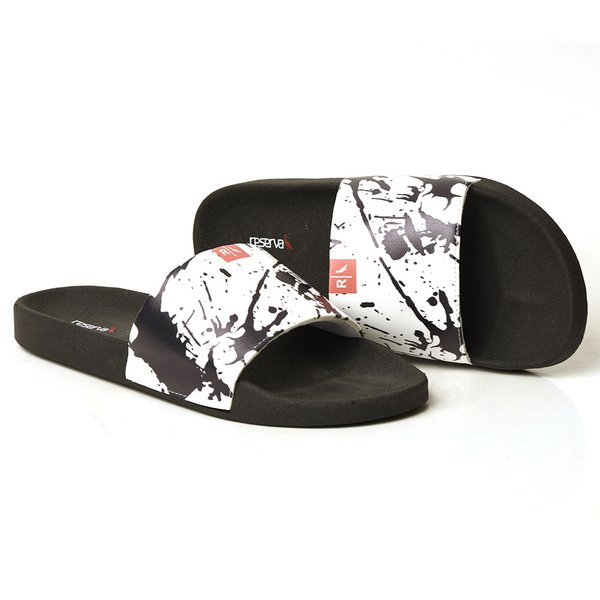 CHINELO SLIDE PRETO MANCHAS Copia