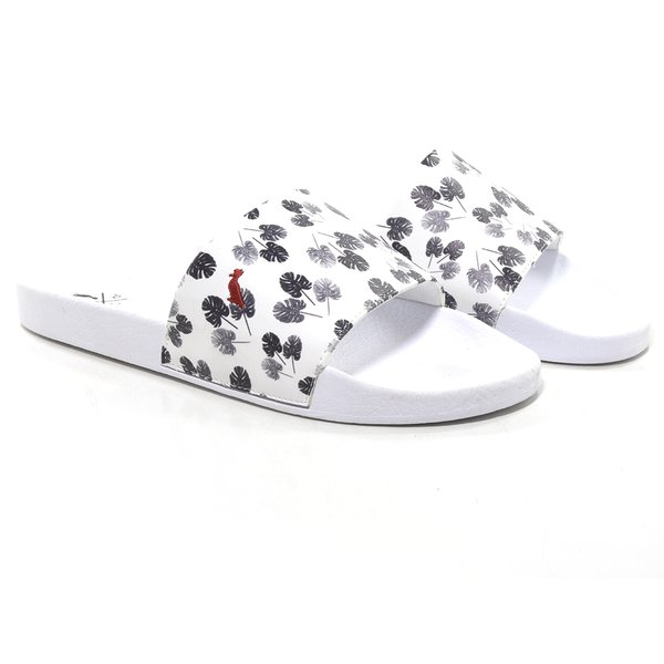 CHINELO SLIDE BRANCO FLORES