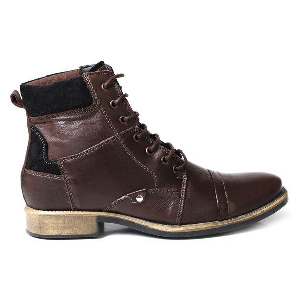 3711b4f6ec Bota Coturno Masculina Cano Alto Boots Café - Black Friday