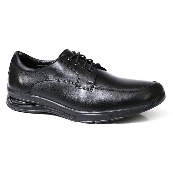 4cb8016b5 Sapato Social Masculino Confort Solado Gel Couro Preto | TCHWM SHOES