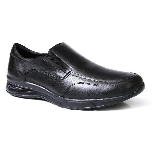 ce88d6134 Sapato Social Masculino Confort Solado Gel Com Elástico - Couro Preto