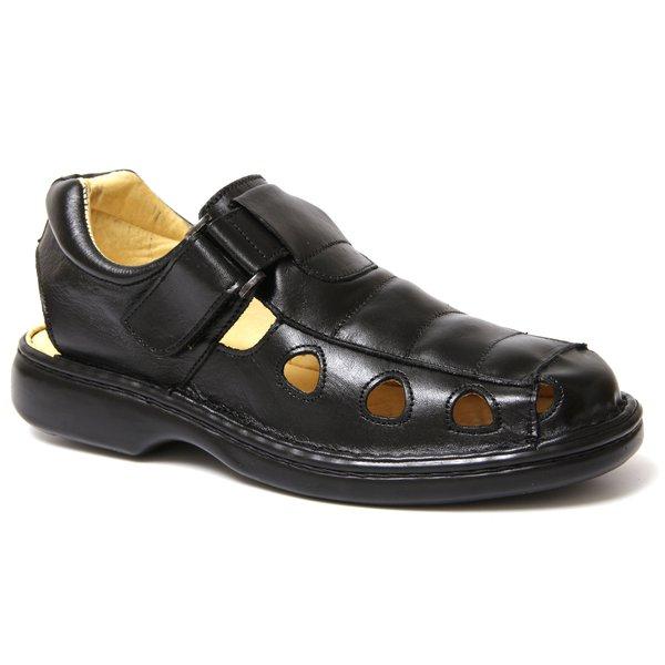 e2c4a741b5 Sandália Anti Tensor Confort Couro Preto