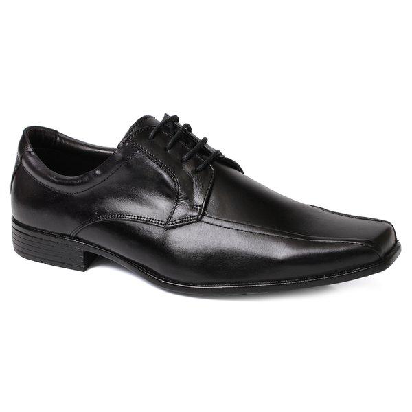 c2ba7ee45 Sapato Social Masculino em Cadarço Couro Preto - Black Friday ...