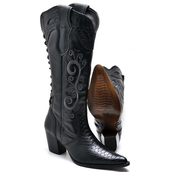 f7950be3d39 Bota Feminina Country 5071 Preto
