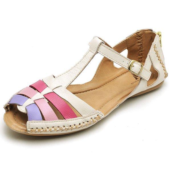 752ace0a3 Sandalia Sapatilha Feminino Top Franca Shoes Moleca Off White Lavanda