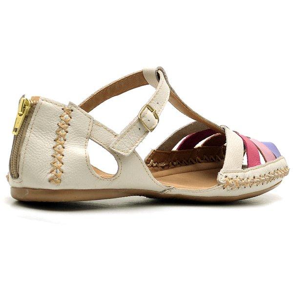 5e1fa82b4 Sandalia Sapatilha Feminino Top Franca Shoes Moleca Off White Lavanda   TOP  FRANCA SHOES