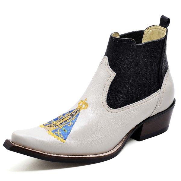 85615d450 Botina Bota Country Bico Fino Top Franca Shoes Verniz Vermelho | TOP ...