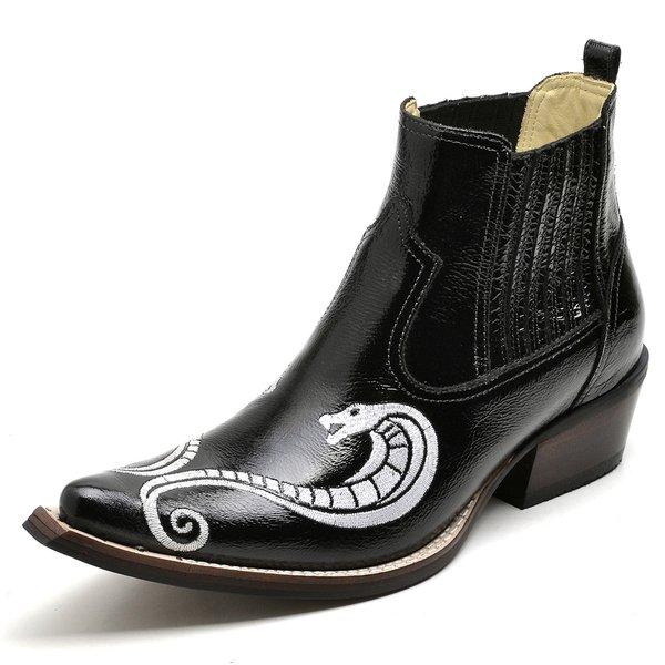 66e787033 Botina Bota Country Bico Fino Top Franca Shoes Verniz Preto | TOP ...