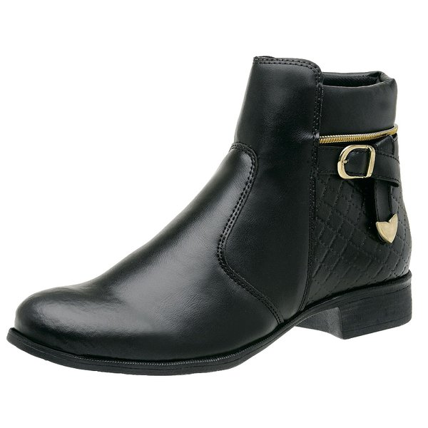 542d1f605 Bota Coturno Feminino Top Franca Shoes Preto | TOP FRANCA SHOES