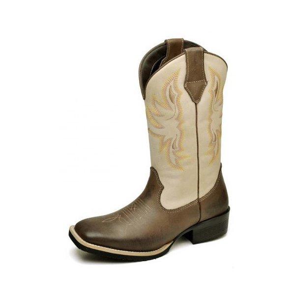 934c9719b Bota Texana Feminina Country Rodeio em Couro Nobre Areia | TOP ...