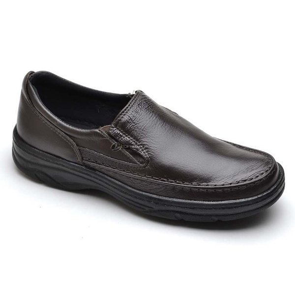 2091c41fc Sapato Social Masculino de Calçar Ortopédico Flexível e Conforto Cafe