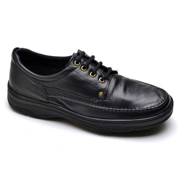 df4f766e3 Sapato Social Masculino de Calçar Ortopédico Flexível e Conforto Preto