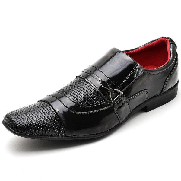 ad7f347c60 Sapato Social Masculino Top Franca Shoes Verniz Preto