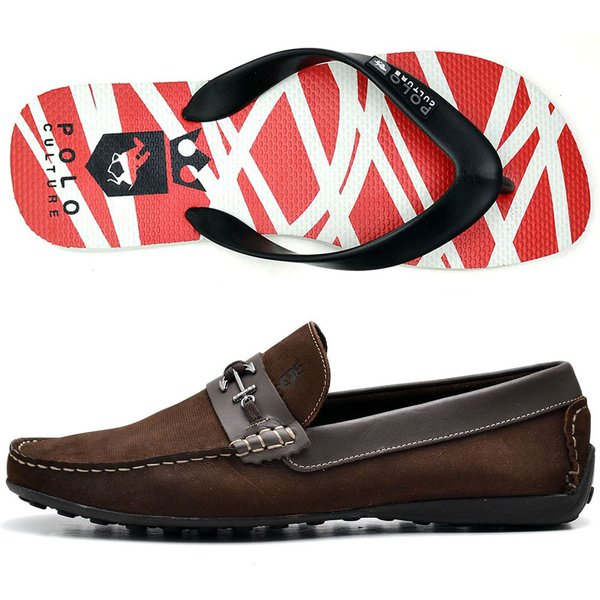 bc5db1761c Kit Mocassim Masculino Polo Culture Cafe + Chinelo | DICONFORTCALCADOS
