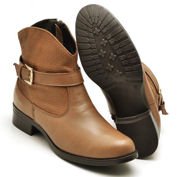 09cb1f991 Bota Country Montaria Feminina Top Franca Shoes Caramelo