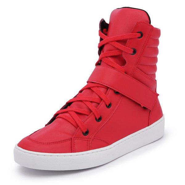 89cce648e Sapatênis Feminino Cano Alto Top Franca Shoes Vermelho | TOP FRANCA ...