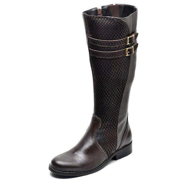 adc315ca9 Bota Country Feminina Montaria Top Franca Shoes Escama Cafe | TOP ...