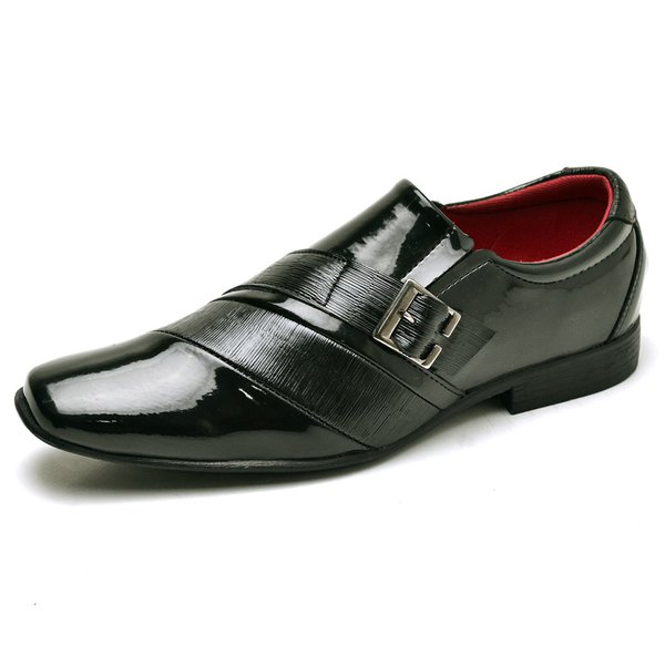 f4e4f3c47 Sapato Social Masculino de Calçar Verniz Preto   TOP FRANCA SHOES