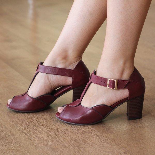 2af3cb9816 Sandália Confortável Peep Toe