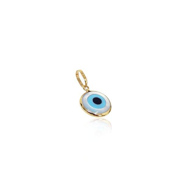 Pingente olho grego grande em ouro 18k