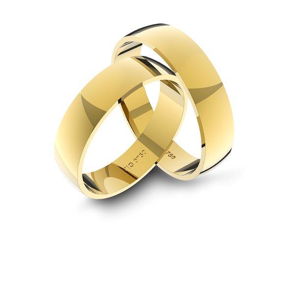 Alianças em Ouro 18k amarelo (4.70 mm de largura)