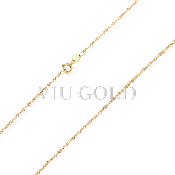 Corrente Cingapura de 40cm em ouro 18k amarelo