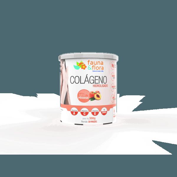 Colágeno Hidrolisado com Silício Orgânico zero Malto sabor Pêssego 300g