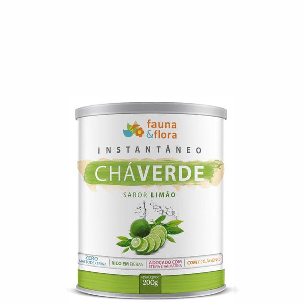 Chá Verde Instantâneo Diurético com Limão 200g