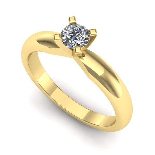 Anel Solitário de Diamante Fortaleza