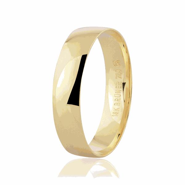 Aliança de Ouro 18K 4,5 mm Tradicional Anatômica