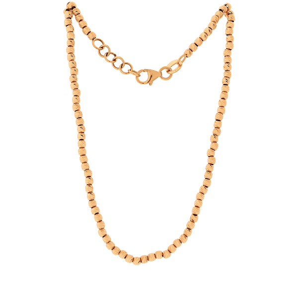 Gargantilha em Ouro Rosé 18K Bolinhas Diamantadas
