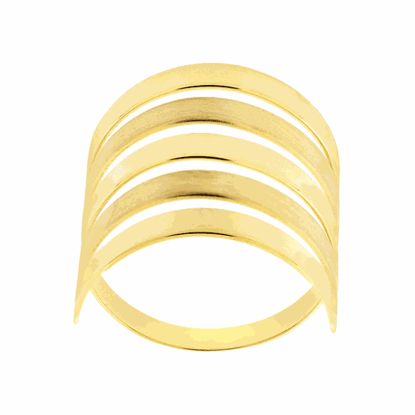 Anel de Ouro 18K Feminino Polido e Fosco