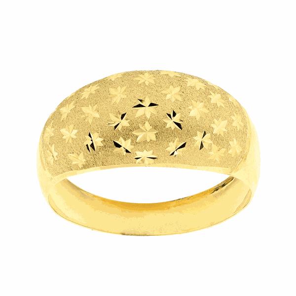 Anel de Ouro 18K Diamantado Estrela