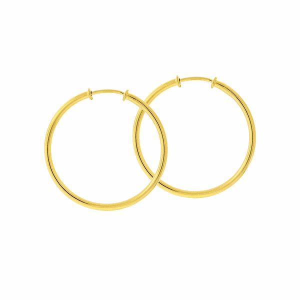 Brinco de Argola Ouro 18K 2,6cm Fio Redondo