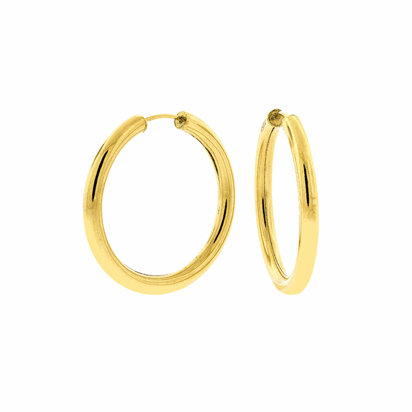 Brinco de Argola Ouro 18K 2,9cm Fio Redondo