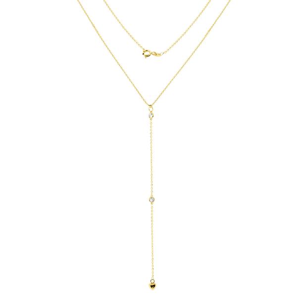 Gargantilha Gravatinha em Ouro 18K com Coração