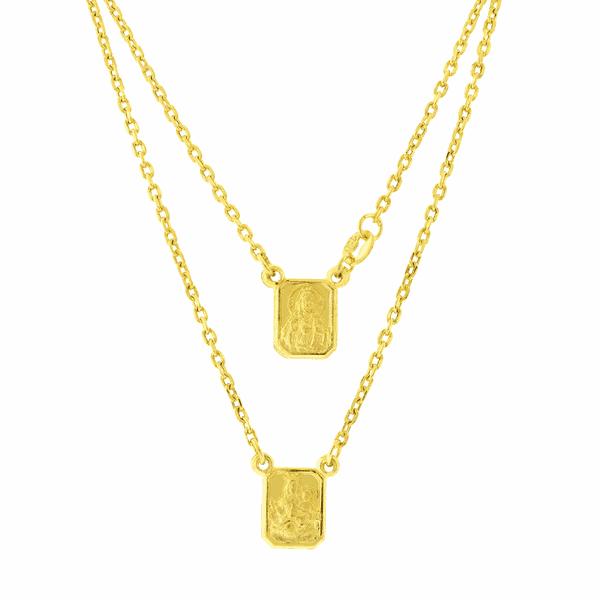 Escapulário de Ouro Corrente Cartier com 60cm