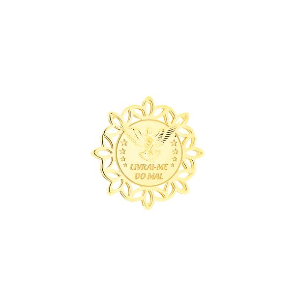 Pingente Divino Espírito Santo de Ouro Amarelo 18K