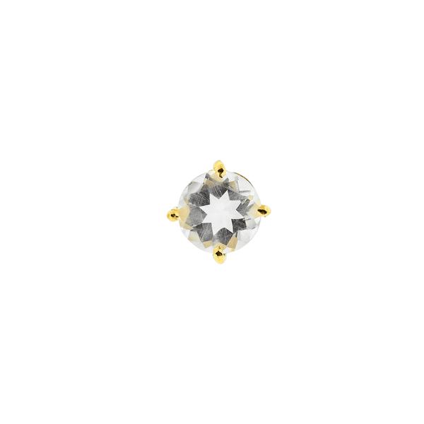 Pingente Ouro 18k Ponto de Luz com Cristal