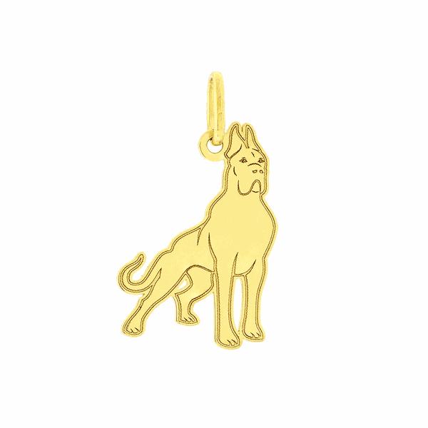 Pingente de Ouro 18K Cachorro Dogue Alemão