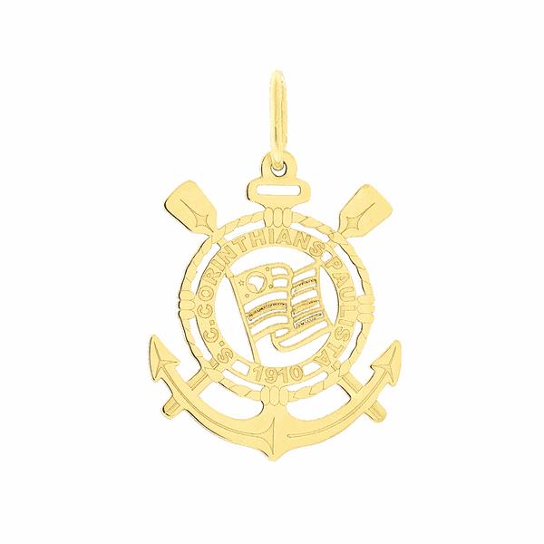 Pingente de Time Corinthians em Ouro 18K
