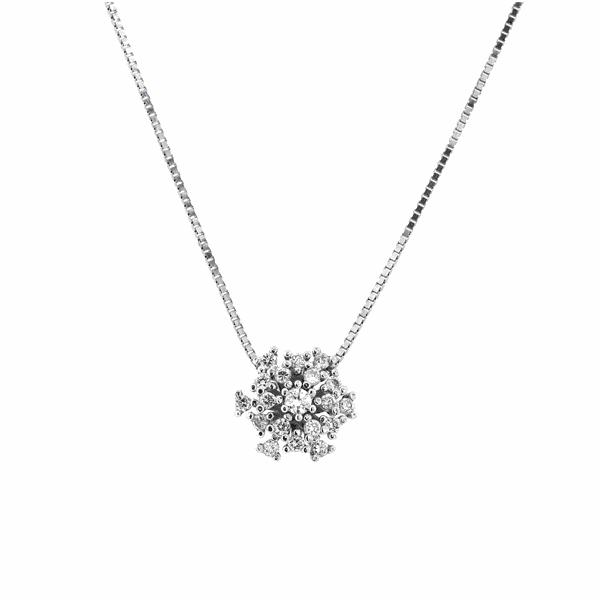 Gargantilha Buquê de Diamantes em Ouro Branco 18K